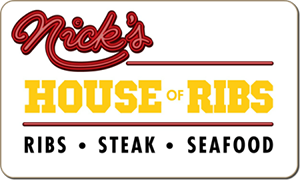 Nick's House of Ribs gift card