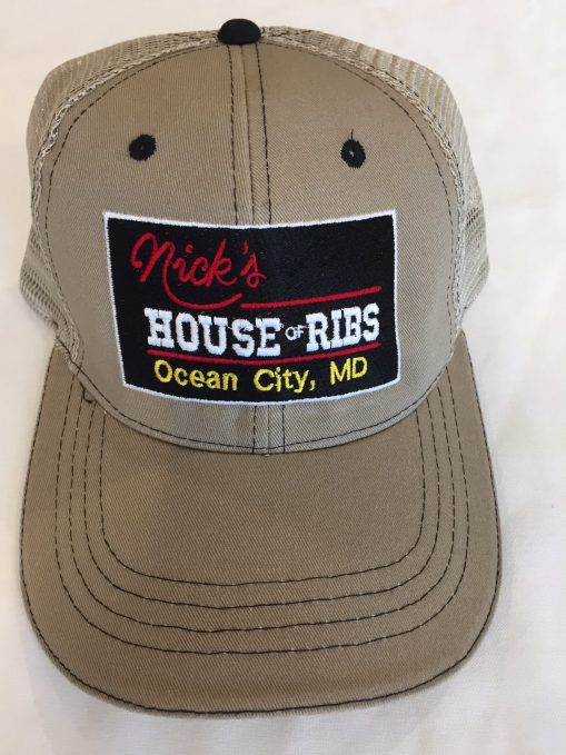 Nick's House of Ribs tan cap