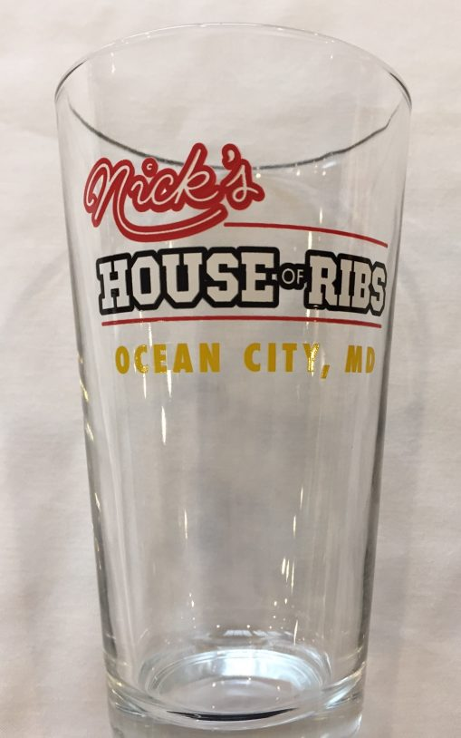 Nick's House of Ribs glass