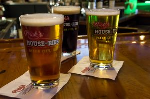 three nick's house of ribs glasses of craft beers