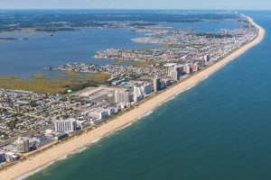 beach aerial photo of ocmd