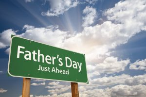 fathers day just ahead green street sign